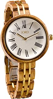 JORD Wooden Wrist Watches for Women - Cassia Series/Wood and Metal Watch Band/Wood Bezel/Analog Quartz Movement - Includes Watch Box