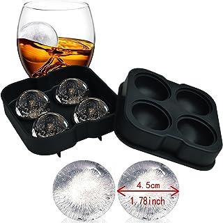 UMIGAL Eiskugelform für 4 Eiskugeln mit 4,5 cm Durchmesser aus Silikon - Eiswürfelform, Eiswürfelform, Eiskugelform aus Silikon. Beste Geschenkartikel für alle Arten von Getränken.100% frei von BPA