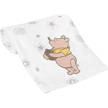 Lambs & Ivy Disney Baby Winnie The Pooh Cream Fleece Appliqued Baby Blanket