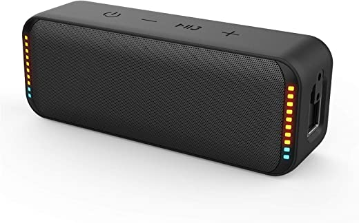 AYCOMIT Waterproof Wireless Speakers Bluetooth for iPhone Android with 12H Playtime 12W HD Sound and Bass Portable TF Card AUX Line Rechargeable…