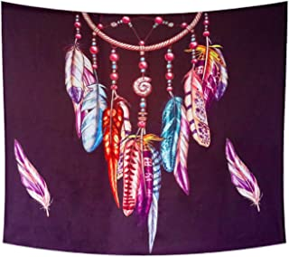 Wall Hangings, Feathers, Bohemian Wall Tapestries, Art, Nature, Home Decoration, Camping Blankets, Bedroom, Dormitory Deco...