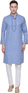 Cotton Embroidered Mens Kurta Pajama India Clothes