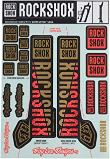 RockShox Decal Kit, 35mm, Troy Lee Designs Gold/Orange