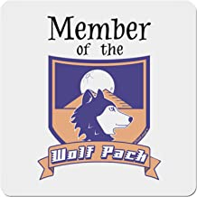 TooLoud Member of The Wolf Pack 4x4 Square Sticker - 4 Pack