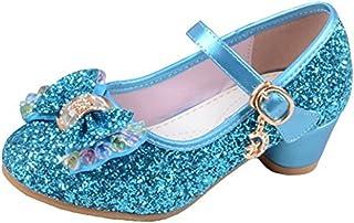 Niñas Zapatos de Tacon de Lentejuelas Disfraz de Princesa Niña Zapatilla de Baile
