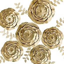 Best gold paper flower backdrop Reviews