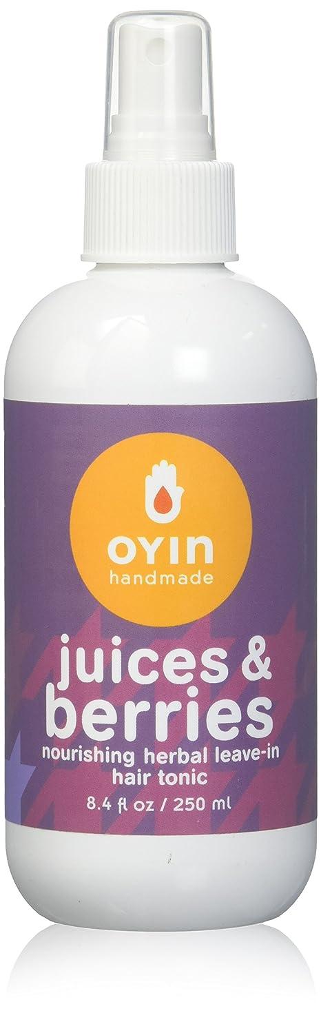 色合いブラウン人口Oyin Handmade ジュースやベリーハーブは、リーブインヘアトニック、8.4オンス