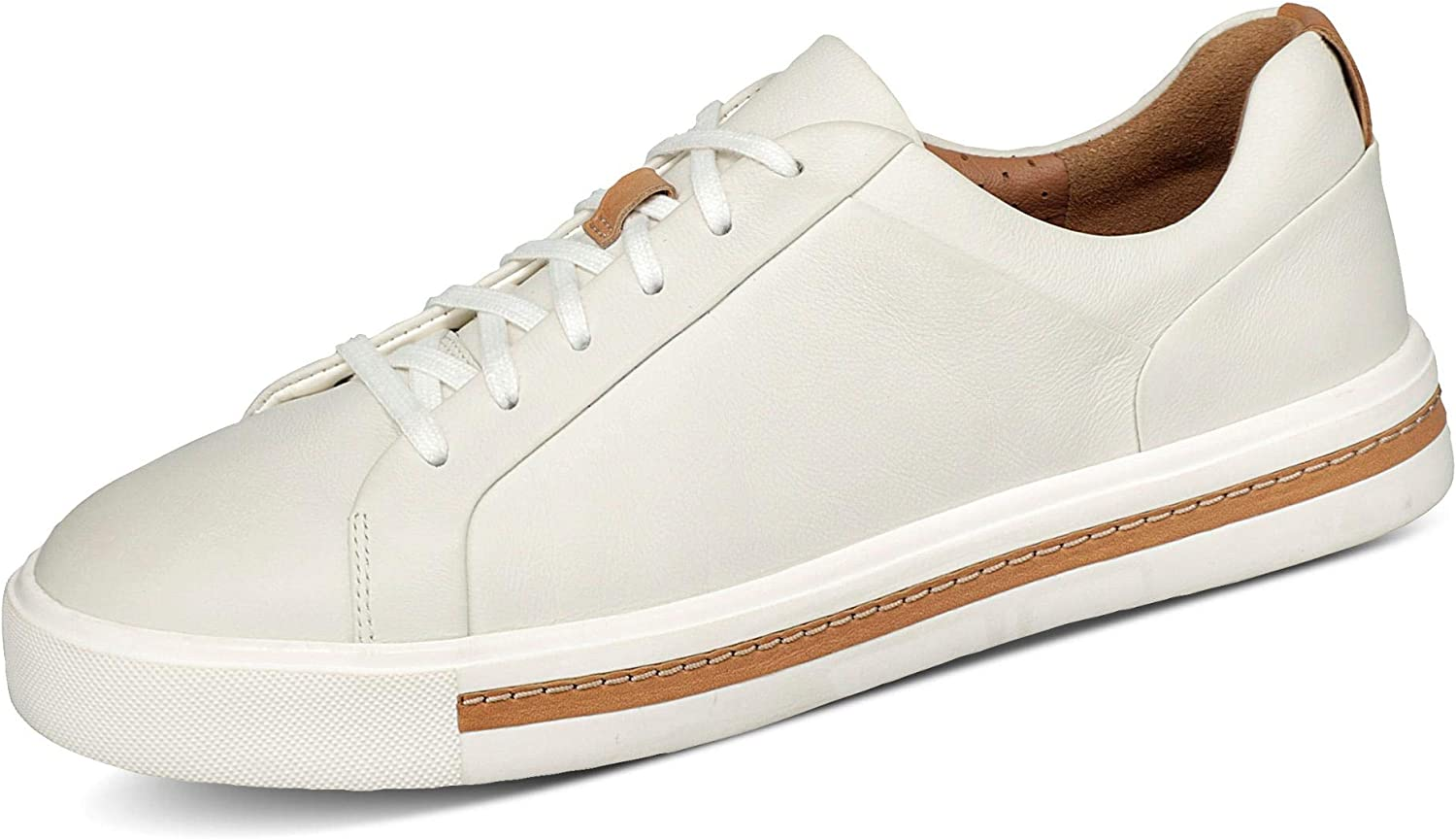 Clarks It is very popular Un Maui Lace Max 90% OFF Trainers Shoes Women Low Top White