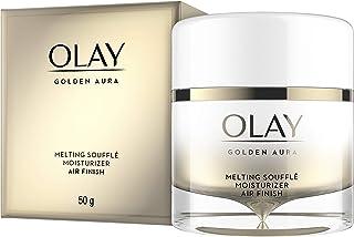 Face Moisturizer by Olay, Golden Aura Melting Soufflé Moisturizer, Air Finish, 1.7 oz