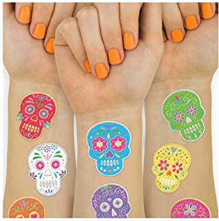xo, Fetti Halloween Tattoos for Kids - 40 Dia de Los Muertos styles | Sugar Skull, Day of the Dead Decorations, Cinco De Mayo, Mexican Party Supplies