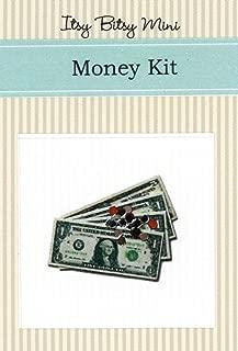 Miniature 1:12 Scale U. S. Bills & Coins Play Money Dollhouse Kit