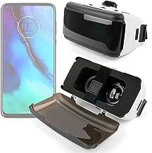 DURAGADGET Gafas de Realidad Virtual VR Ajustables en Color Negro Compatible con Smartphones Moto G Power, Moto G Stylus, Motorola Moto G8 Plus, Motorola Moto G8 Power + Gamuza limpiadora.