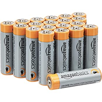 AmazonBasics AA 1.5 Volt Performance Alkaline Batteries - Pack of 20