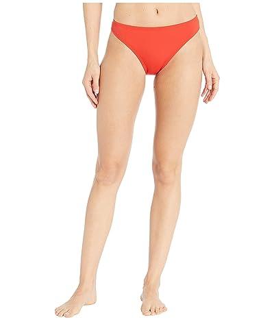 MICHAEL Michael Kors Iconic Solids Classic Bikini Bottoms (Persimmon) Women