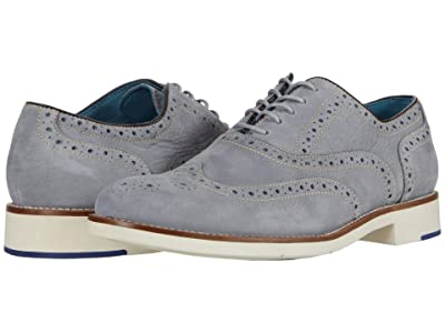 Johnston & Murphy Watkins Wing Tip (Light Gray Nubuck) Men