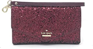 Kate Spade New York Laurel Way Glitter Smartphone Wristlet (Deep Plum)