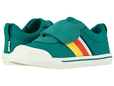 TOMS Kids Doheny (Toddler/Little Kid) (Greenlake Striped Canvas) Kid