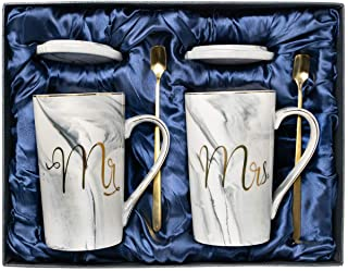 Wedding Gifts for The Couple, for Couples, Mr and Mrs Sign Coffee Mug, Engagement Gifts, Bridal Shower Gifts for The Bride...
