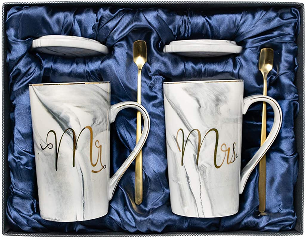 Wedding Gifts For The Couple Anniversary Gifts For Couples Mr And Mrs Sign Coffee Mug Engagement Gifts Gifts For Her Bridal Shower Gifts For The Bride Gift Registry For Wedding Mr And Mrs Gift