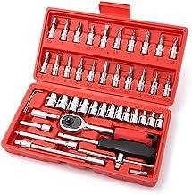 NICOLIE 1/4-inch aandrijving Socket Ratchet Wrench Socket Bit Combinatie Gereedschap Kit Voor Auto Repareren & Huishouden...
