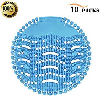 Urinal Screen Deodorizer (10 Pack), Scent Lasts for Up to 5000 Flushes, Splash Guard Urinal Cakes, Odor Neutralize, Ideal for Bathrooms, Restrooms, Office, Restaurants, Schools (Blue)