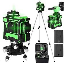Romacci Ferramenta de nível a laser multifuncional de autonivelamento 3D 12 linhas Linhas horizontais verticais com barra ...