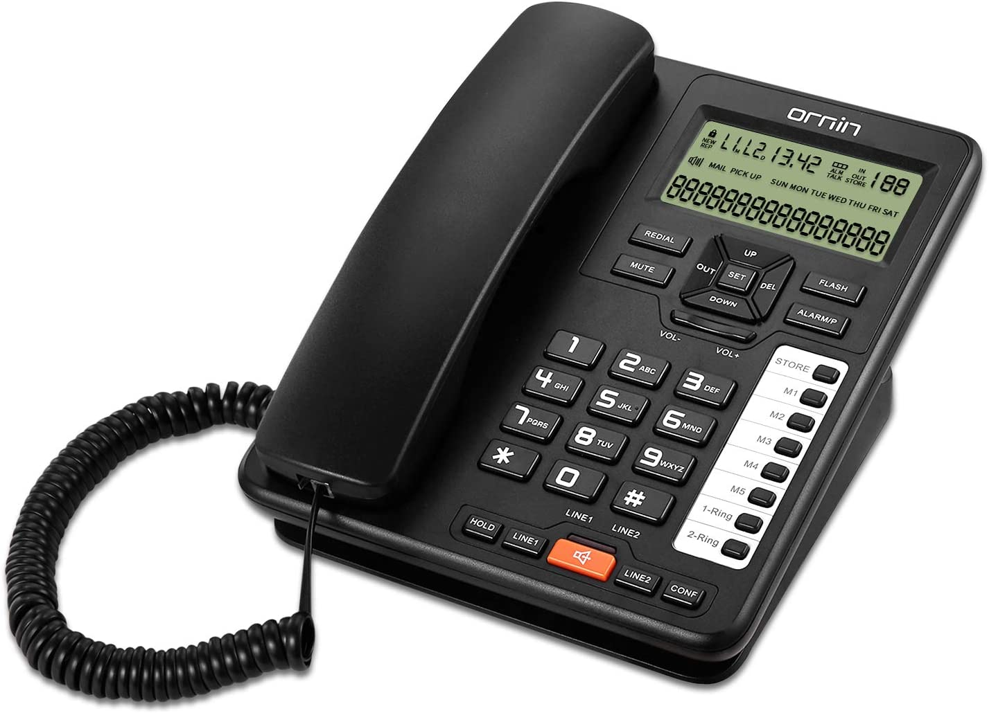 Ornin 2-Line Corded Telephone Systems Business Under blast Limited time trial price sales and for Hou Small