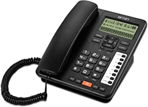 Ornin 2-Line Corded Telephone Systems for Small Business and House (Black)