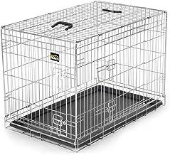 zoomundo Portador Jaula Plegable Metálica para Mascotas para Perros Gatos Tamaño L (2 Puertas)