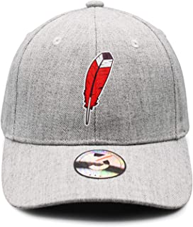 ce292344 DKDKLOOO Baseball Cap Hat Red Feather Hats for Women Men Low Profile  Athletic Adjustable One Size