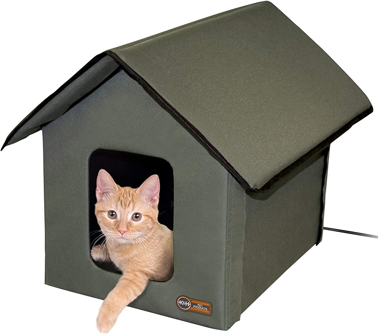 K&H Pet Products Outdoor Kitty House Cat Shelter (Heated or Unheated)