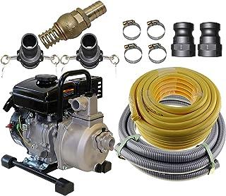 "1"" Petrol 2.5HP Water Pump 4 Stroke Engine & Hose Kit Transfer Camping Garden"