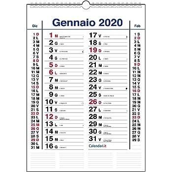 santi e lune 15x42 cm Calendario 2021 da muro OLANDESE SLIM stretto con 3 mesi
