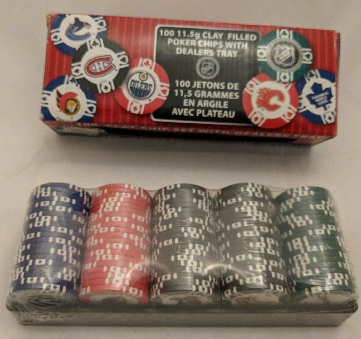 Bicycle - 100 Licensed NHL 11.5g OFFer Deale Poker Clay Bargain sale Chips Filled