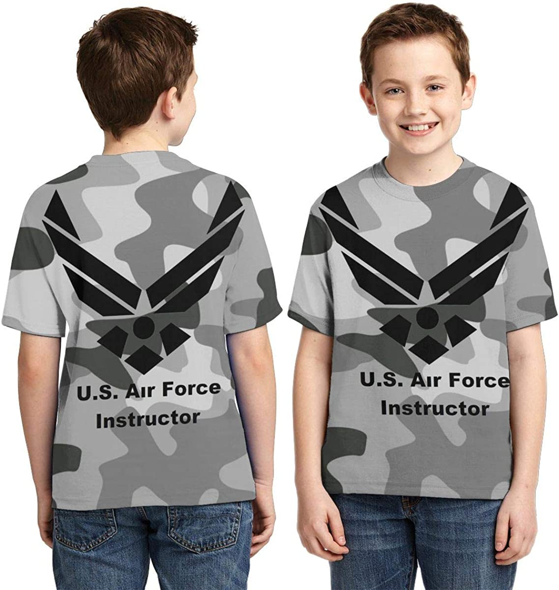 USAF Boys Shirts Kids Fashion T-Shirts Boys Girls Summer Tops
