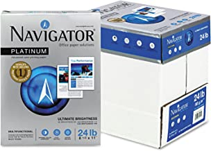 NAVIGATOR NPL11245R Platinum Paper, 24-lb, 8-1/2 x 11, Bright White, 500 Sheets/Rm, 5 Rms/Ct