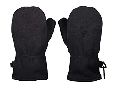 Obermeyer Kids Finley Fleece Mitten (Little Kids/Big Kids) (Black) Extreme Cold Weather Gloves