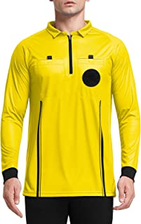 FitsT4 Men's Pro Soccer Referee Jersey Long Sleeve Ref Shirt
