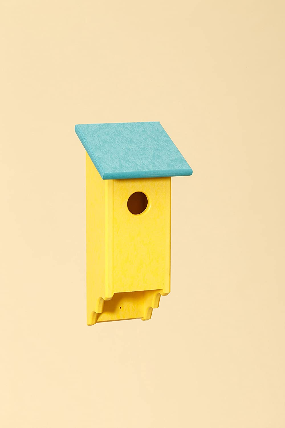 Poly blueebird House (Yellow with Teal Top)