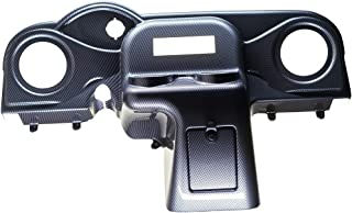 VIP RXDHCFWRD EZGO RXV Dash Carbon Fiber Weave Din Radio Speaker Cut-Out 6.5 Inches