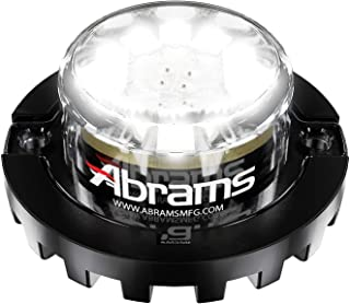 Abrams SAE Class-1 Blaster 120 (White/White) 36W - 12 LED Emergency Vehicle Truck LED Hideaway Surface Mount Strobe Warning Light