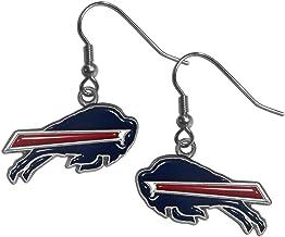 NFL Siskiyou Sports Womens Buffalo Bills Dangle Earrings One Size Team Color