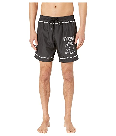 Moschino Topstitch Double Questionmark Shorts