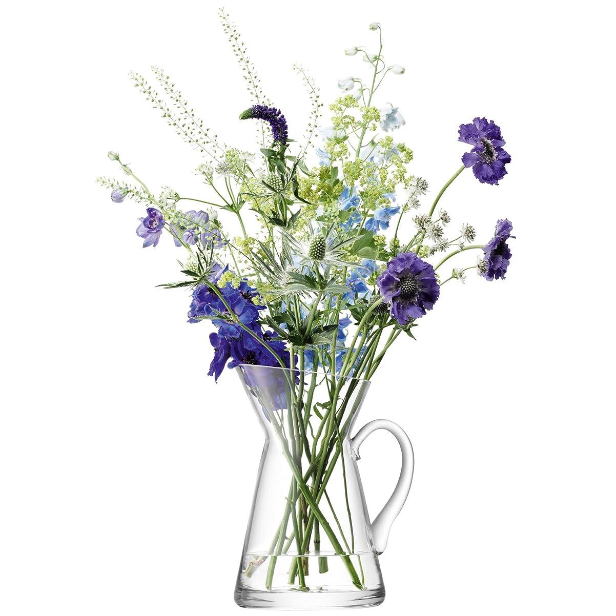 作詞家コンデンサーエンディングLSA(エルエスエー) フラワーベース(花器) クリア 高さ26cm FLOWER G1087-26-301