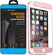 "MagicGuardz, Made for Apple 4.7"" iPhone 6 and iPhone 6S, 3D Full Cover Tempered Glass Carbon Fiber Screen Protector (Rose Gold)"