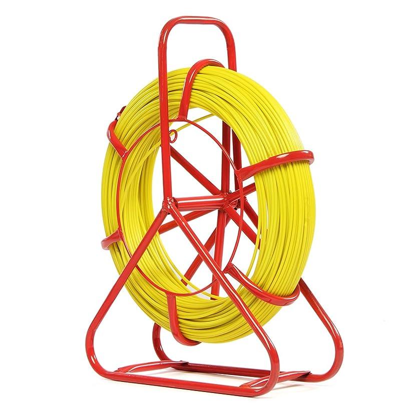 コミットメント広告するランチョンDADANGSH フィッシュテープグラスファイバー引きワイヤケーブルランニングチューブロッドダクトプーラーツール4.5ミリメートル×150メートル DIYツール