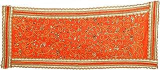 Aditri Creation Orange Large Chunari Decorative Velvet Cloth Puja Chunni Chunar (Size :- 18 Inches x 36 Inches) Aasan Mat