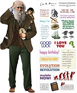 Charles Darwin Quotable Notable - Die Cut Silhouette Greeting Card and Sticker Sheet