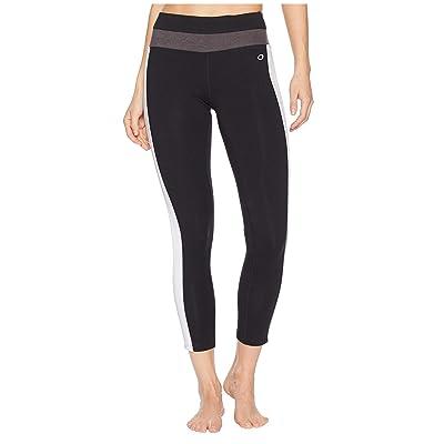 Champion Authentic 7/8 Leggings (Black/White) Women