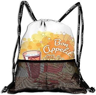 HUOPR5Q Cute Cartoon Penguins Drawstring Backpack Sport Gym Sack Shoulder Bulk Bag Dance Bag for School Travel
